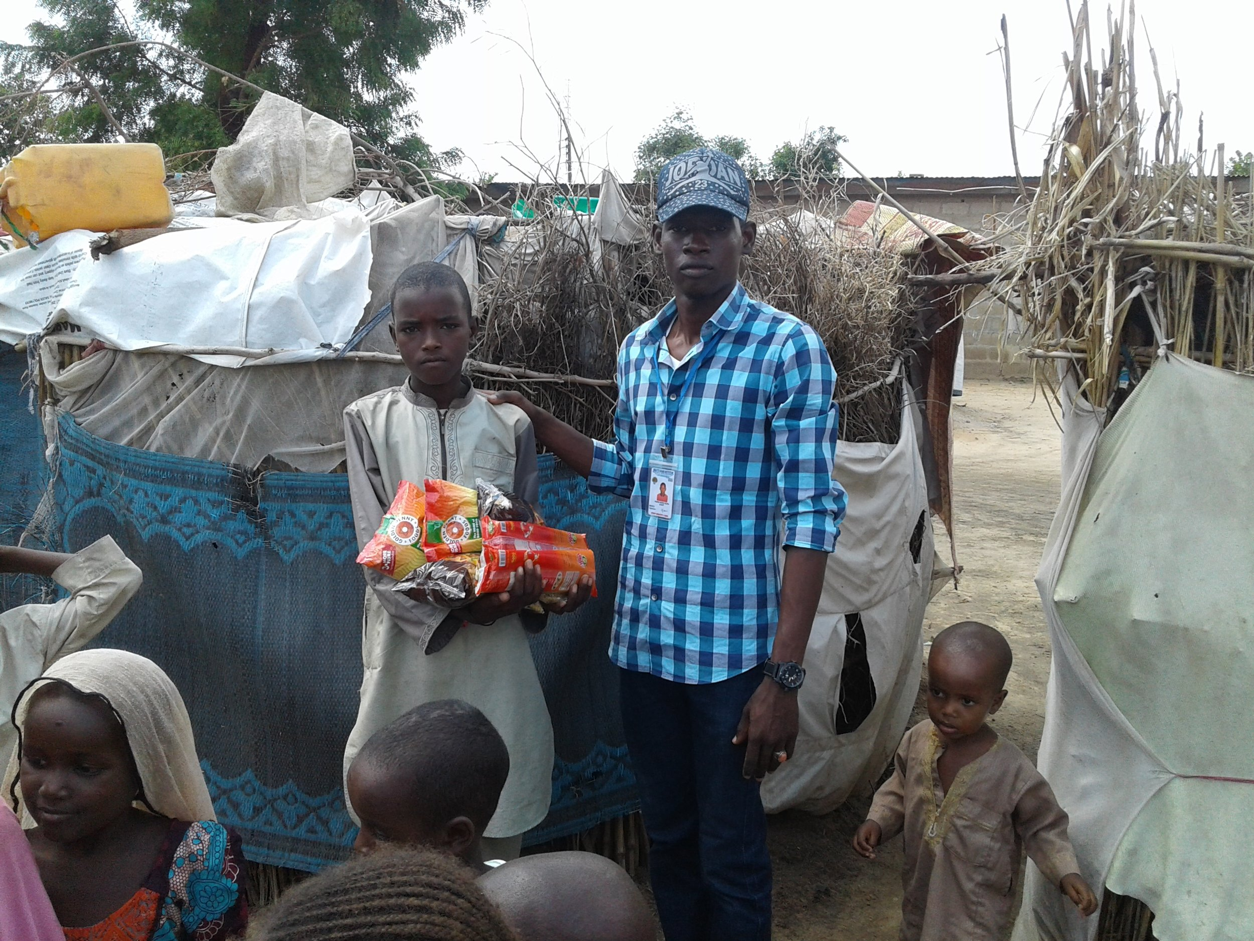 There are 3 million refugees from Boko Haram, many live in squalid camps - we feed as many as we can