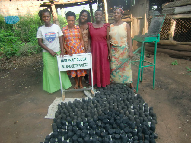 Here's an eco-friendly project - making briquettes out of compacted trash