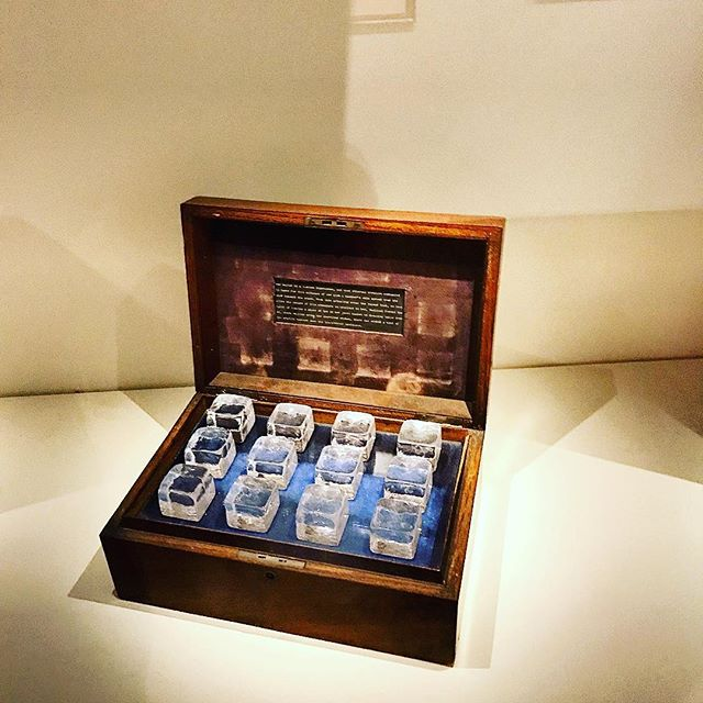 """🚨🚨dance nerd alert 🚨🚨 Joseph Cornell's """"Homage to the Romantic Ballet"""", a symbolic ode to Marie Taglioni and the ice cubes she would supposedly place in her jewelry box, reminding her of dancing beneath the stars on the side of the road. """"On a moonlight night in the winter of 1835 the carriage of Marie TAGLIONI was halted by a Russian highwayman, and that enchanting creature commanded to dance for this audience of one upon a panther's skin spread over the snow beneath the stars. From this actuality arose the legend that to keep alive the memory of this adventure so precious to her, TAGLIONI formed the habit of placing a piece of artificial ice in her jewel casket or dressing table where, melting among the sparkling stones, there was evoked a hint of the atmosphere of the starlit heavens over the ice-covered landscape."""" #josephcornell #marietaglioni #dancenerd #dancehistory #artinstituteofchicago"""