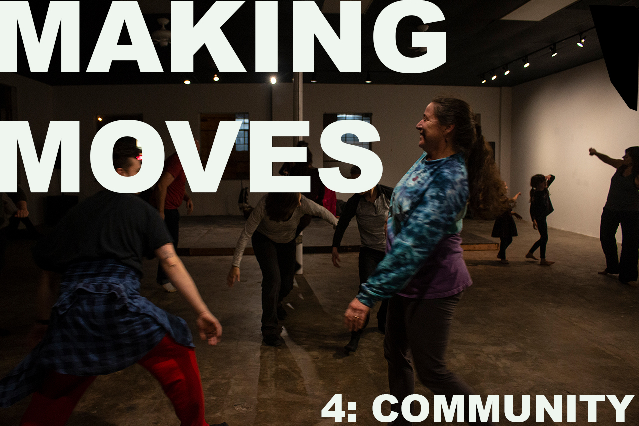 Making Moves is BACK! For our fourth installment, we are creating space for YOU! Join fellow dancers, choreographers, moving artists, arts professionals, and dance enthusiasts for a round table discussion. We will facilitate conversation and activities centered around the needs and wants of dancers and dance artists within the Kansas City arts community.   Be a part of the discussion and help grow and expand our dancing community!  Doors open at 6:30 PM and group discussion begins at 7:00 PM. Stay for conversation, networking, problem solving, and more.   The event is FREE and open to the public. All ages are welcome.  A monthly gathering, Making Moves aims to build community through a shared passion for dance and movement. Throughout 2019, Making Moves will host improvisation jams and provide performance opportunities for local and regional dance makers. The series is produced by Kyle Mullins and made possible by Charlotte Street Foundation.