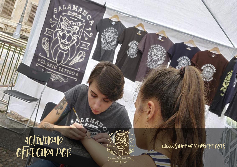 TATOO TEMPORAL by SALAMANCA CLASSIC TATTOO   ¿Quieres lucir un tribal de moda, y aprender de los mejores tatuadores de Salamanca? Acércate a nuestra carpa donde podrás hacerte un tatoo temporal totalmente gratis... ¡Mucha tinta, mucha diversión! GRACIAS A NUESTROS AMIGOS DE SALAMANCA CLASSIC TATOO!