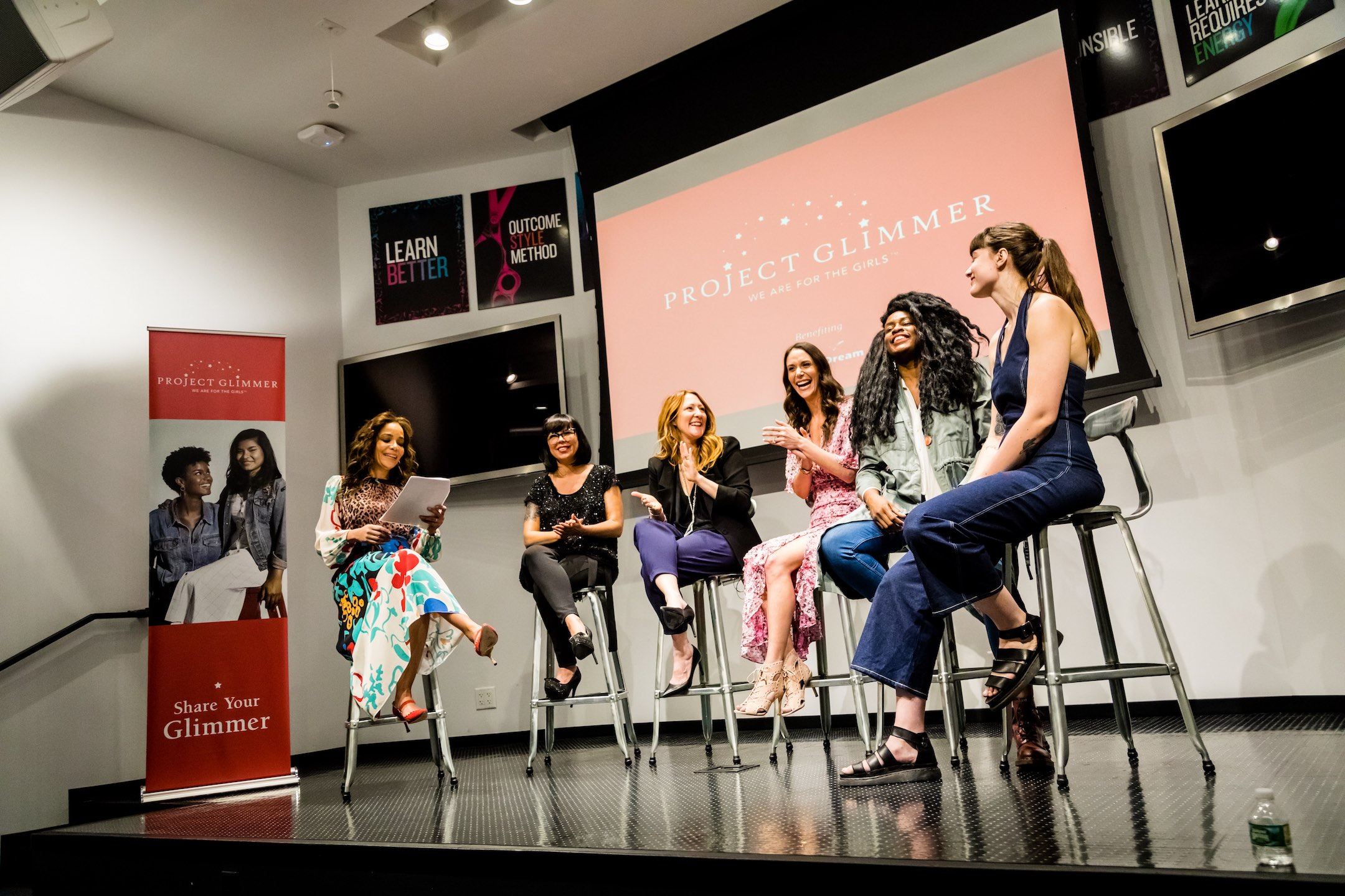 The View's Sunny Hostin moderates a panel discussion at a Day of Empowerment at Redken NYC.