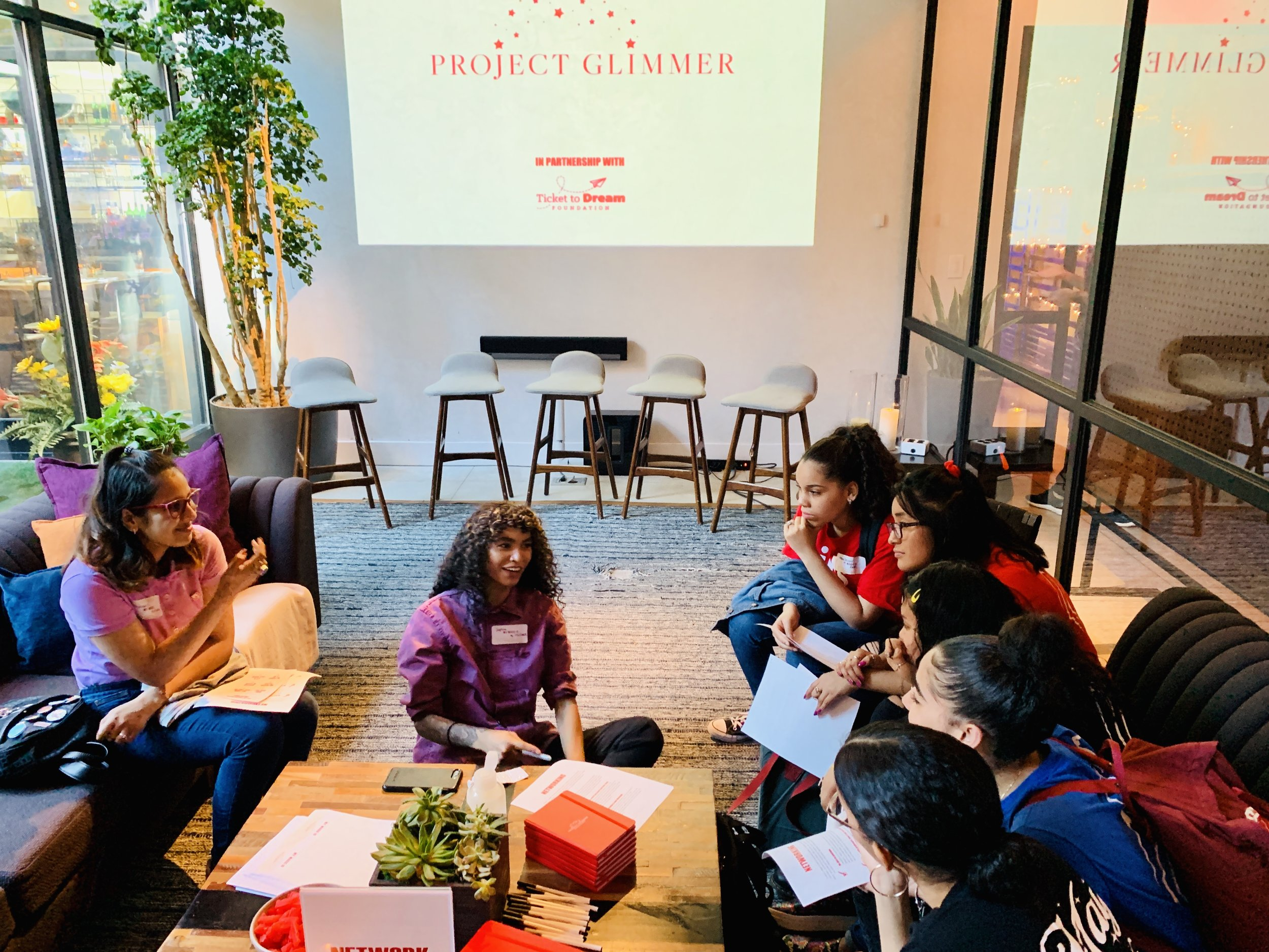 Influencer, Empowerment Advocate and former foster youth, Sophia Roe, runs a Networking Workshop at a Day of Empowerment.