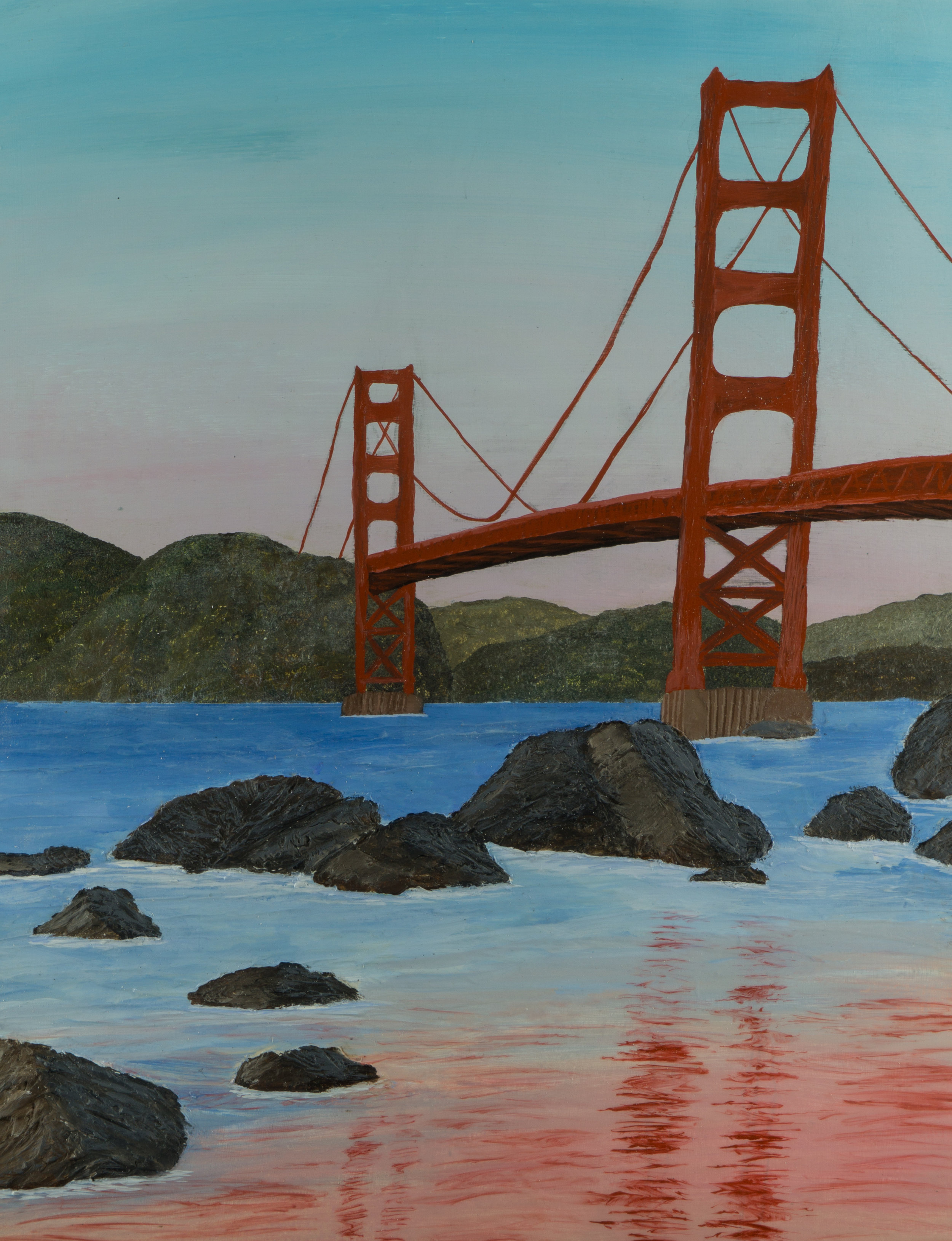 16x12 Acrylic On Panel: Golden Gate Bridge
