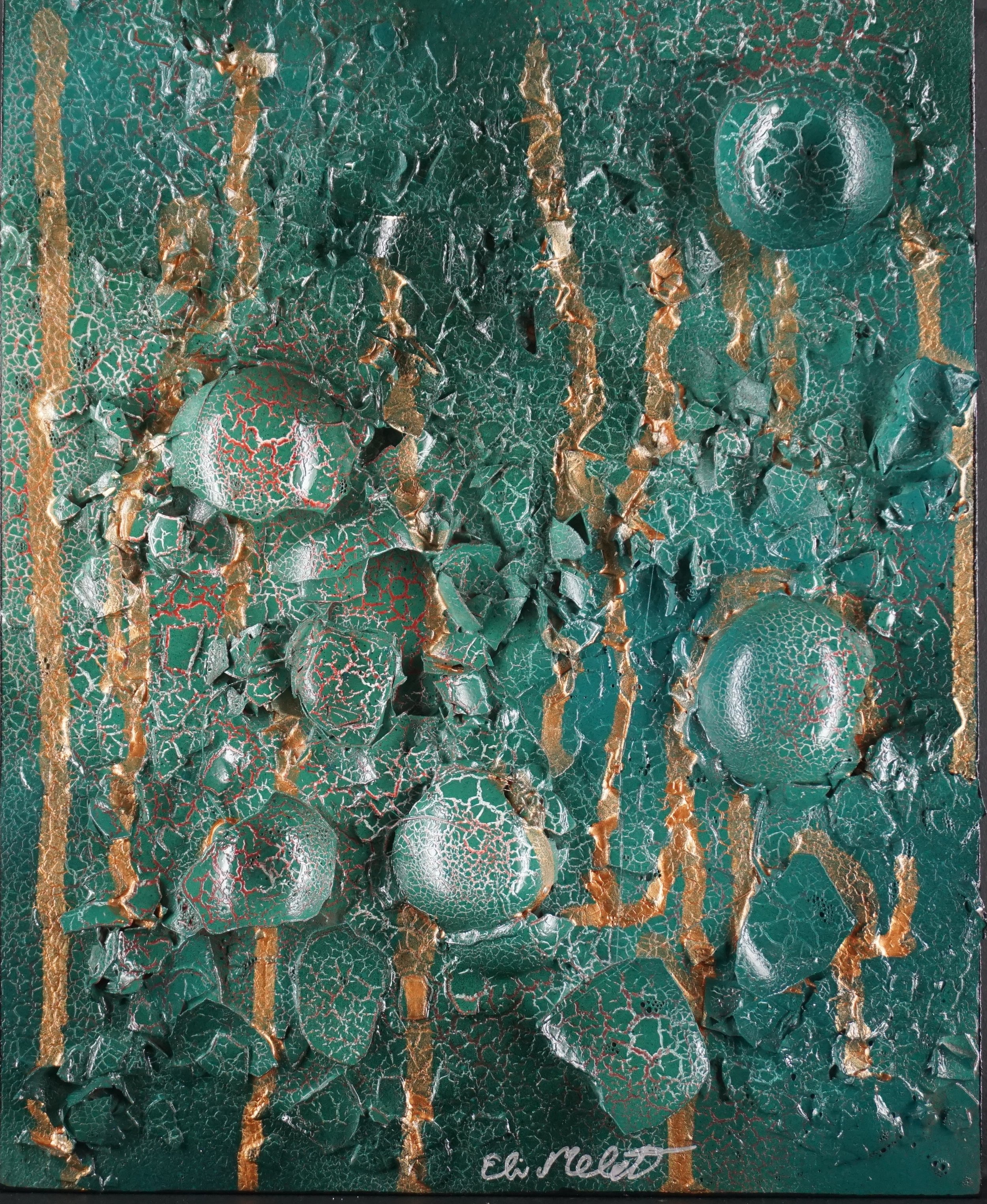 Mixed media (eggshells) on panel: 10x8 SOLD