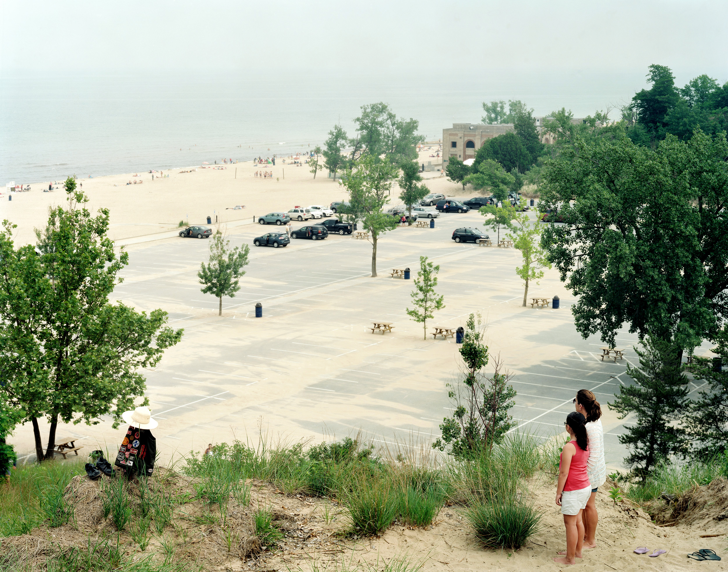 Overlook Along Lake Michigan, Indiana Dunes Seashore