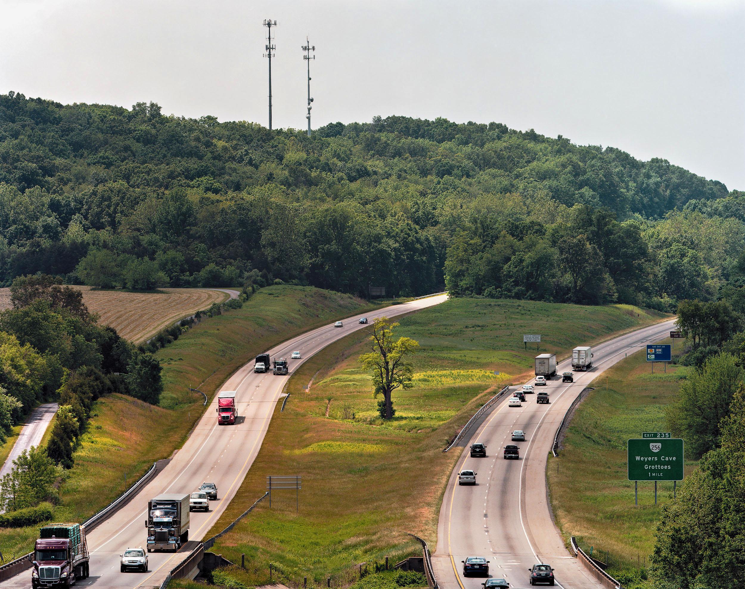 I-81 near Grottoes, Virginia