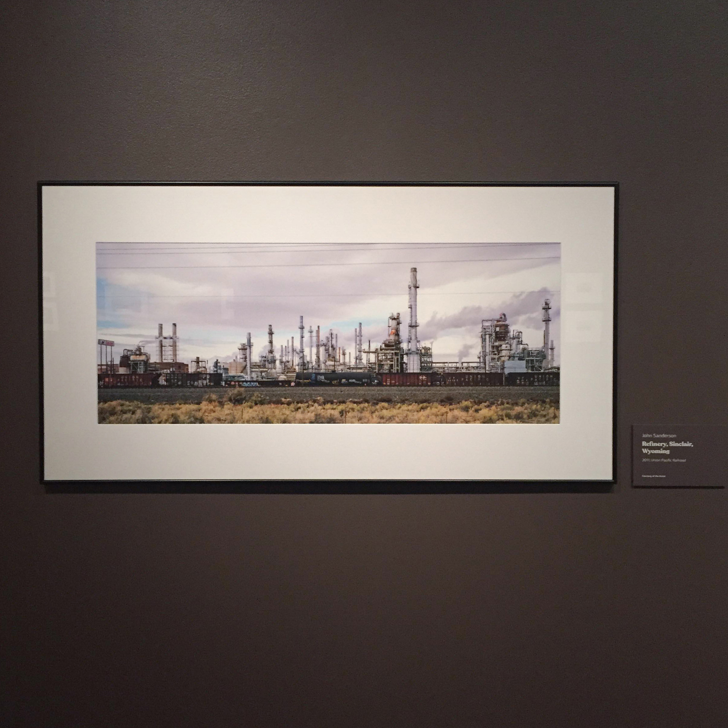 Refinery, Sinclair, Wyoming  installation view