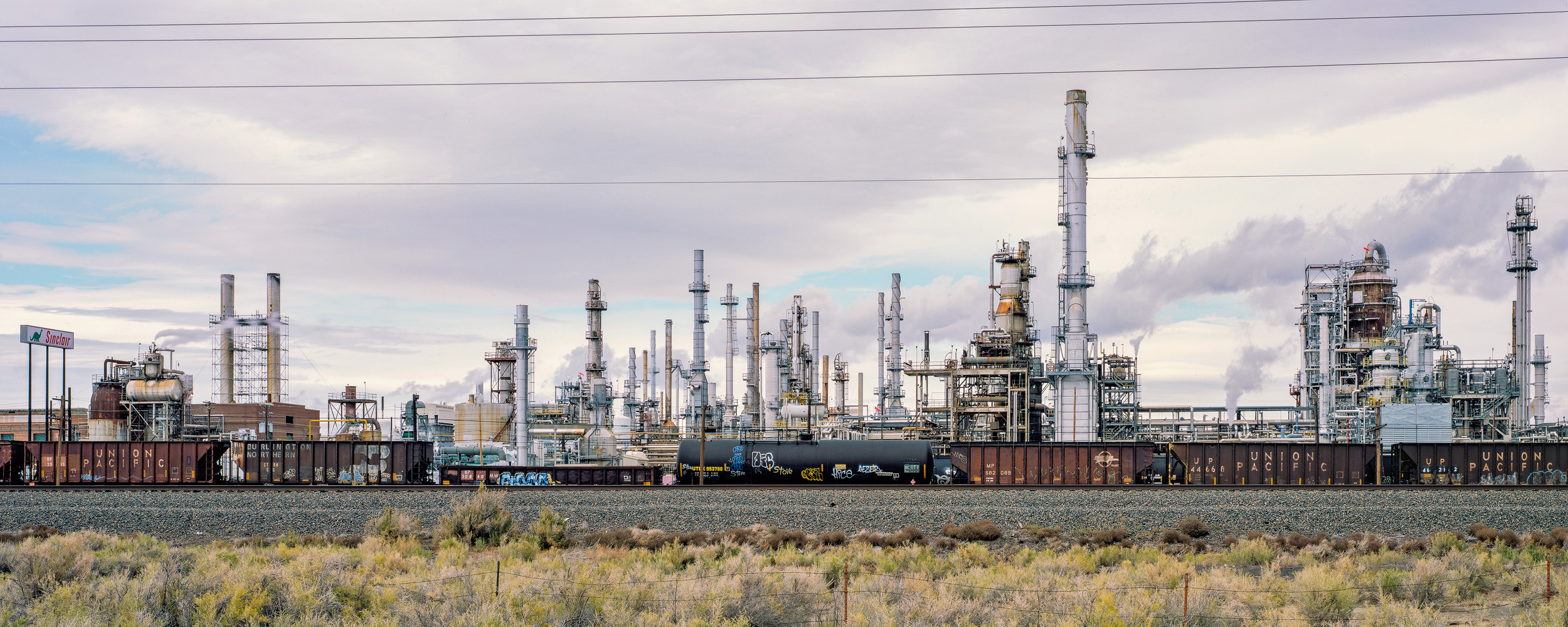 Refinery, Sinclair, Wyoming  (see more at the  Railroad Landscapes Gallery )