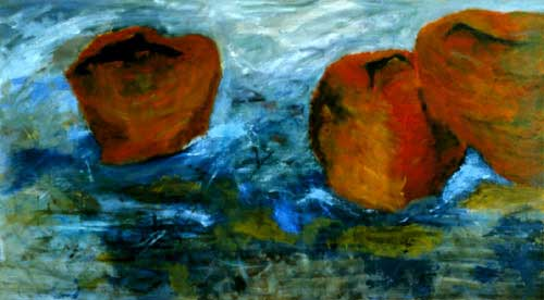 Three Red Ones oil on canvas 50 x 90in RO-01 photo: M. Lee Fatherree