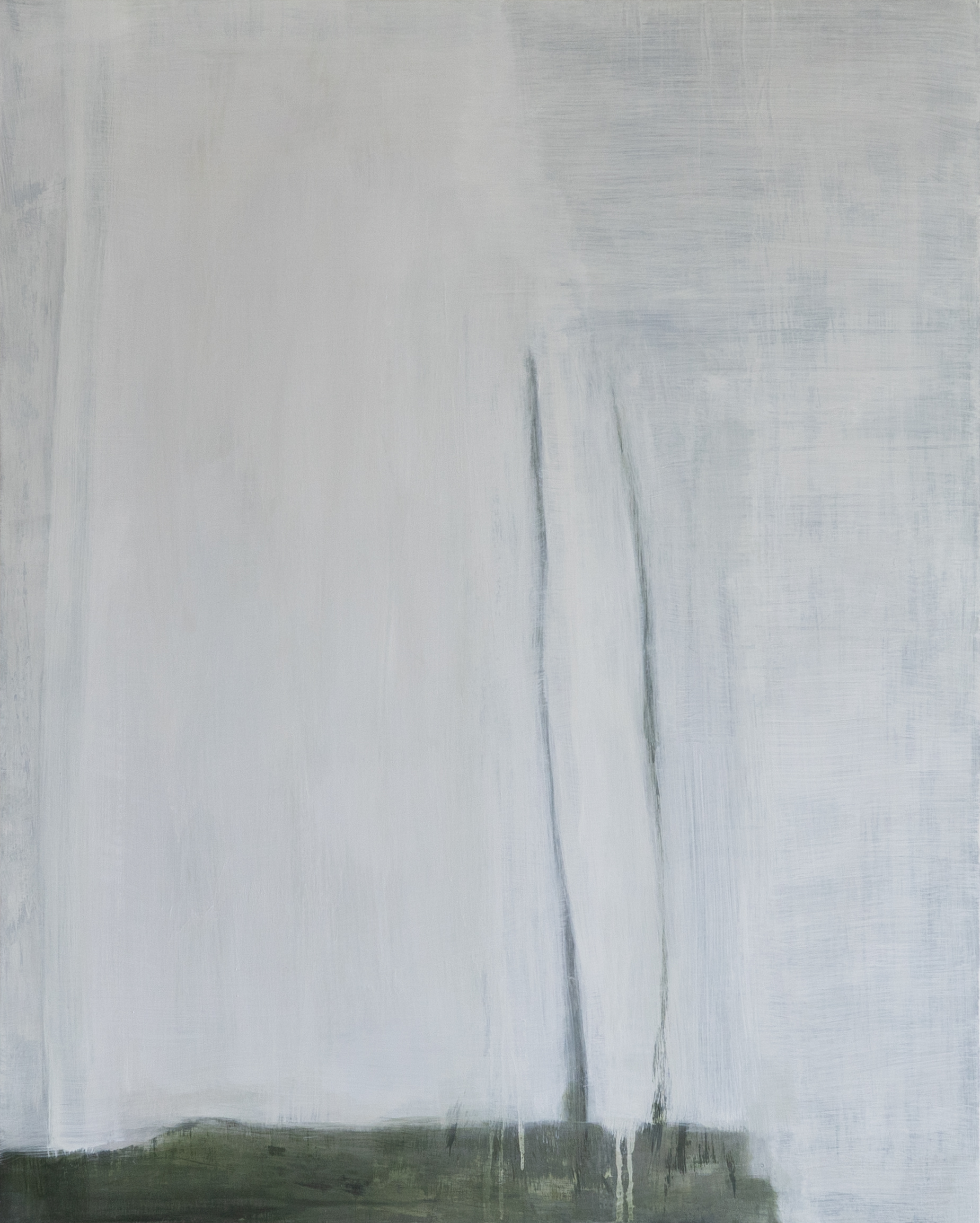 Edge ofWhite 2019 50 x 40 x 1.5in oil on wood photo: Sasha Schell