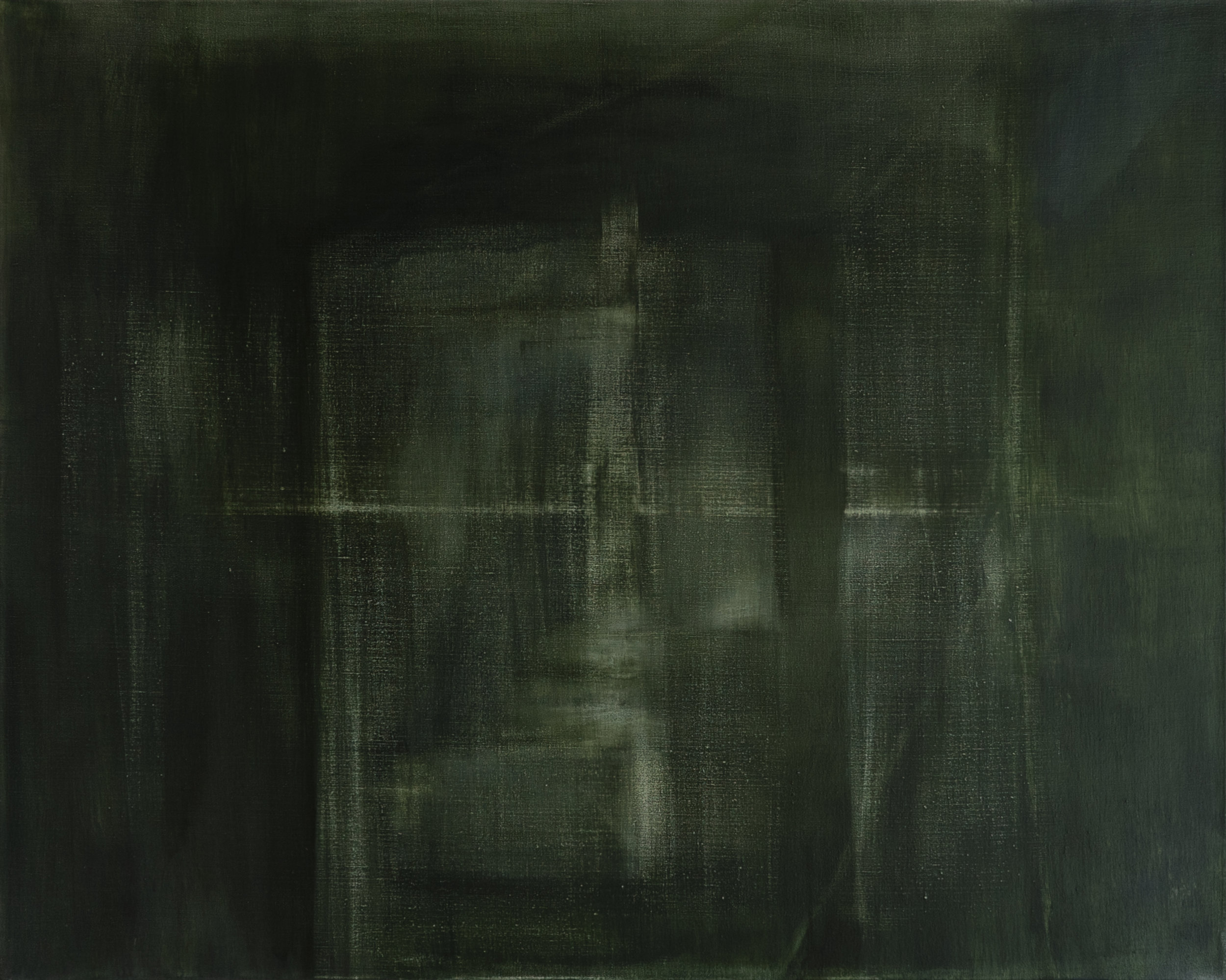 Vertical Green 2018 50 x 40 x 1.5in oil on linen photo: Sasha Schell