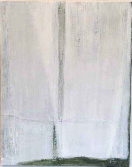 Edge of White 2019 50 x 40 x 1.5in oil on wood
