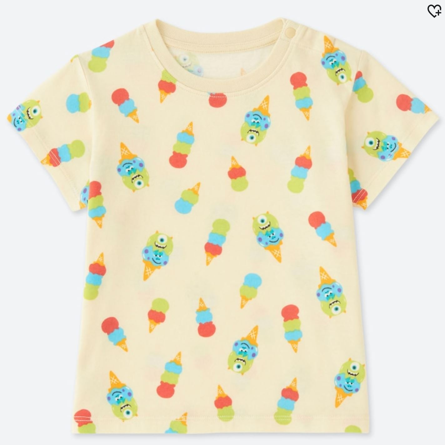 I Scream - I'm pretty picky about clothes. I'm not saying I'm fashionable, but rather it takes a unique something to make me desire an article. I just picked up this awesome Monsters Inc. Ice Cream Cone shirt from Uniqlo. Looks super good on Elliot.