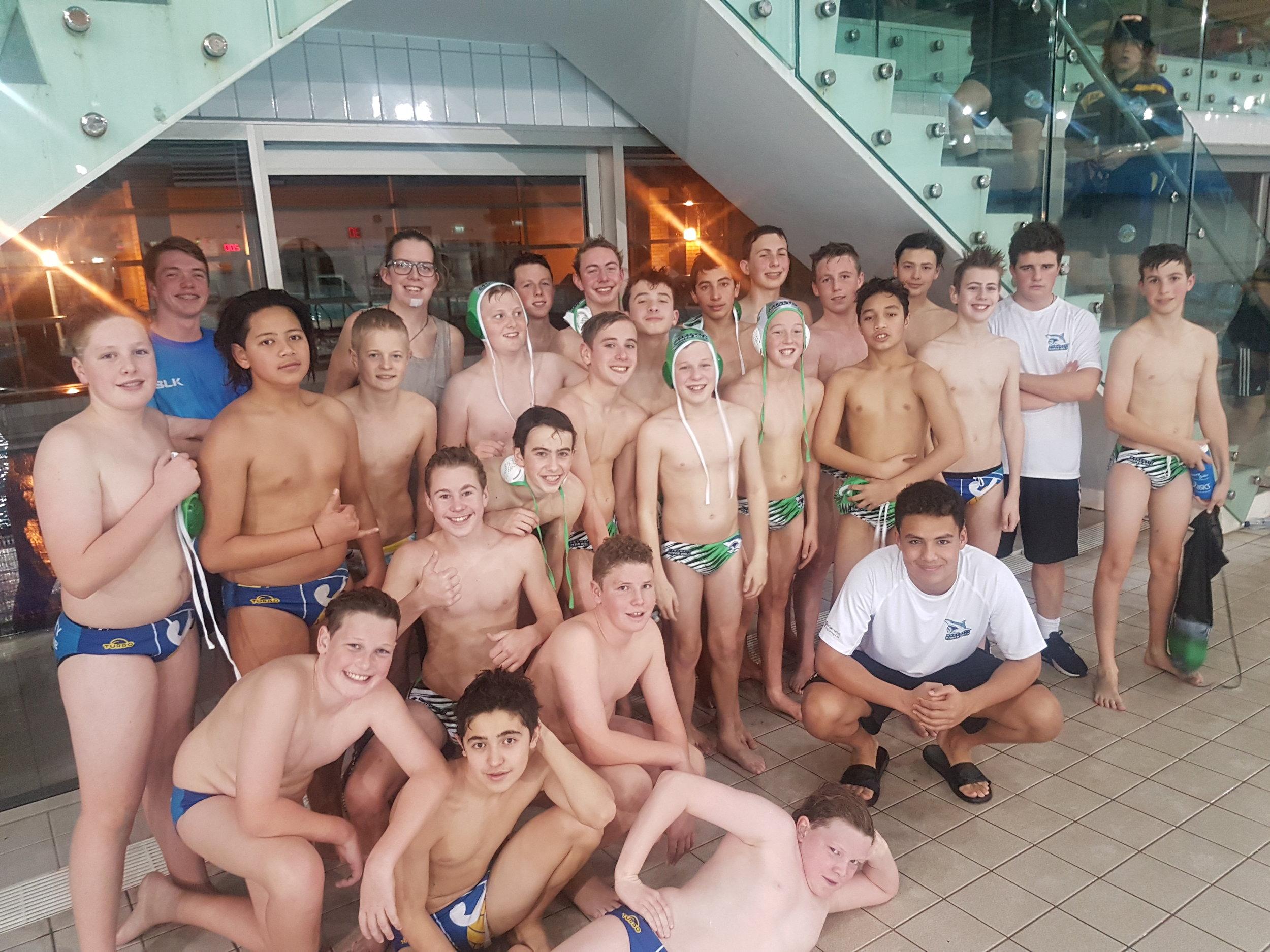 Waitakere Water Polo and Manawatu U14 Boys