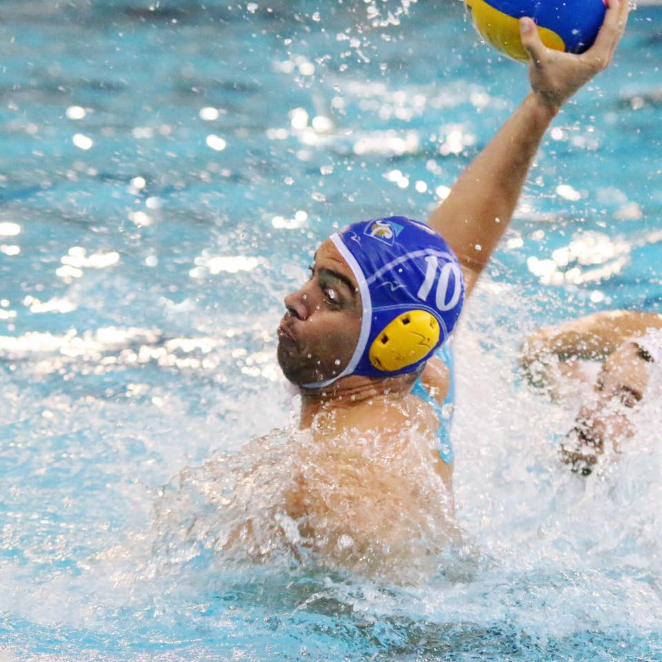 Daniel Cercols playing for Waitakere Water Polo Club
