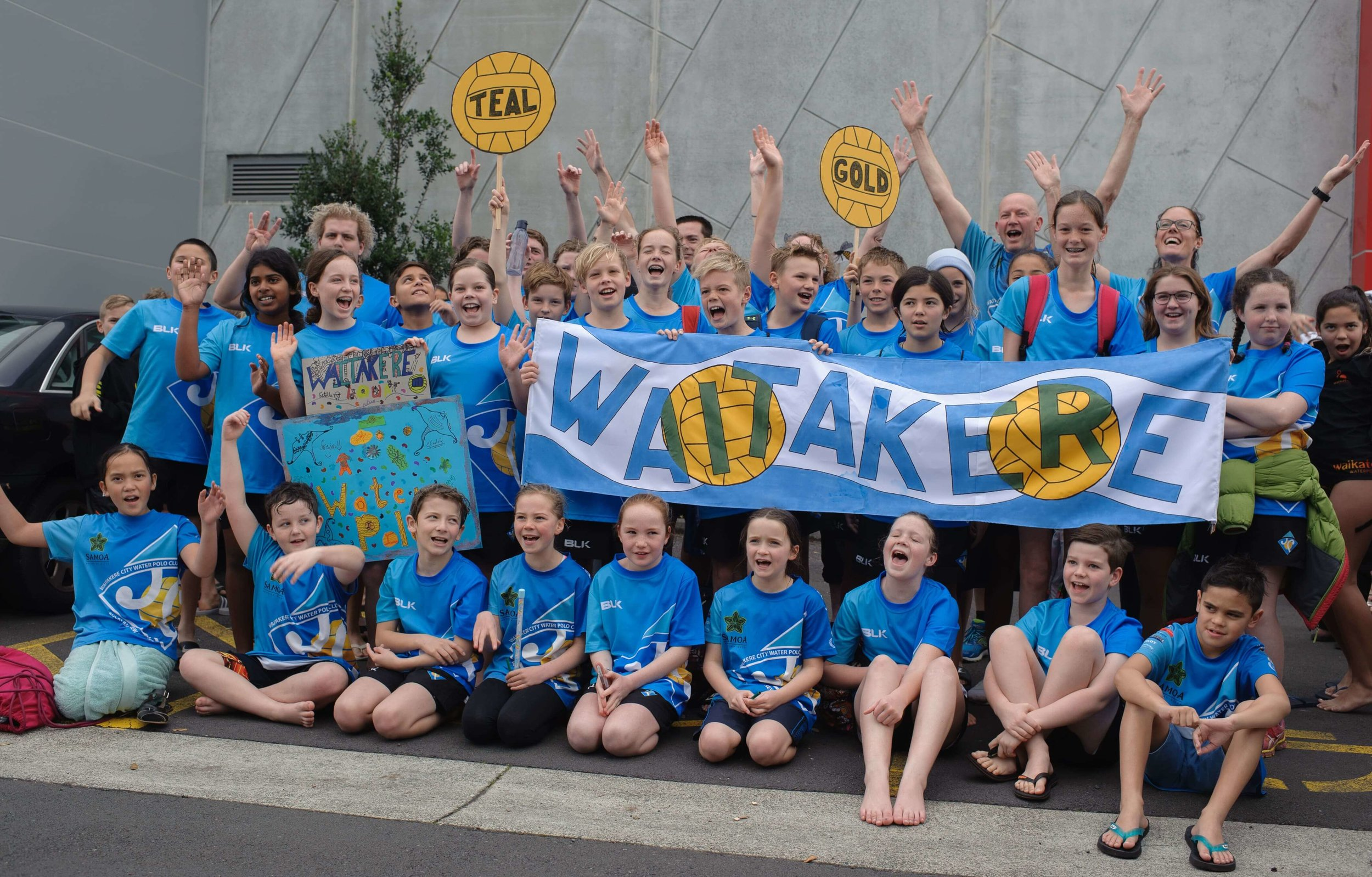 Waitakere Water Polo Under 12s at the Jelly Belly Tournament