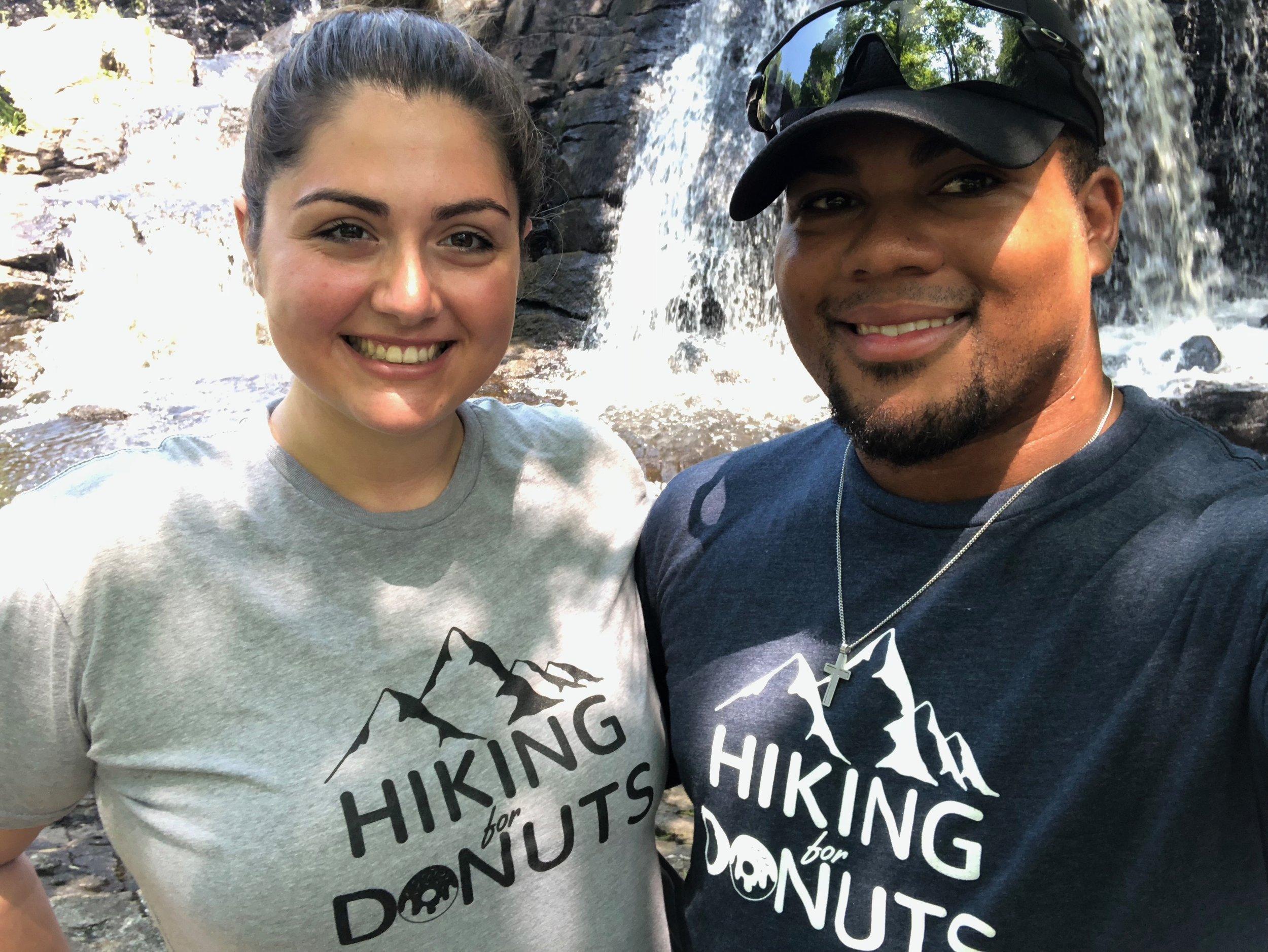 SabrinaandDre Hiking in Connecticut