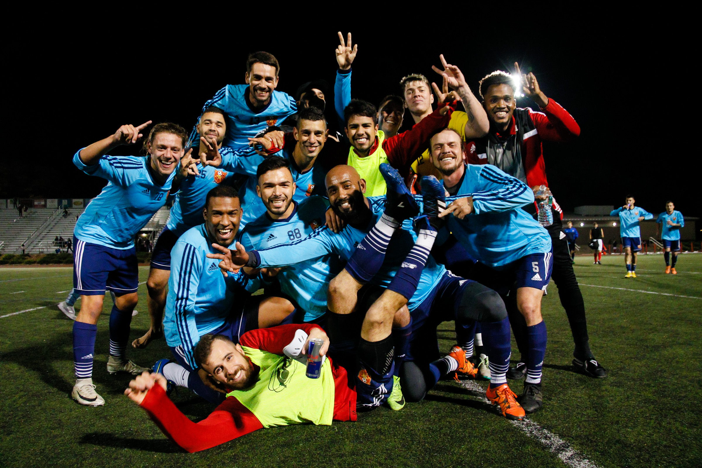 Somerville, MA: Safira FC defeated Boston City FC 4-1 in a 2019 Lamar Hunt U.S. Open Cup game on October 20, 2018. (c) Burt Granofsky