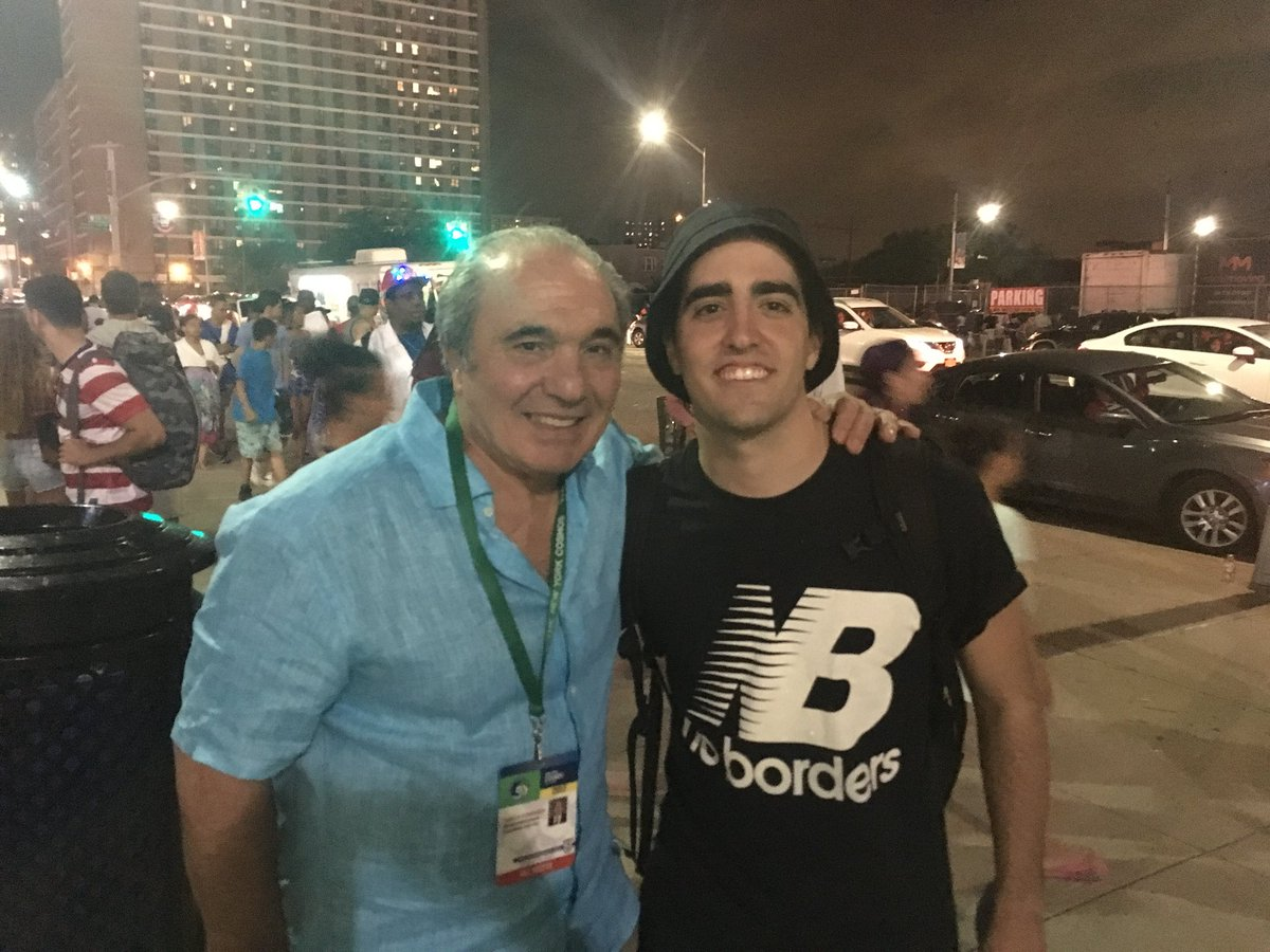 Partick with NY Cosmos owner, Rocco Commisso