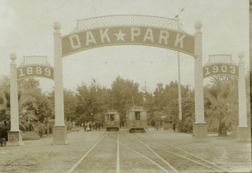 The Gateway to the Oak Park neighborhood near Sacramento, California