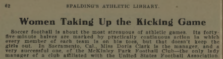 Excerpt from Spalding's Soccer Football Guide, 1919-1920