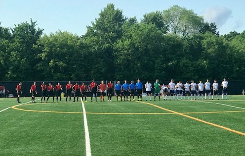 Prematch shot before Twin Stars took on Med City. Photo courtesy of  Twin Stars Twitter .