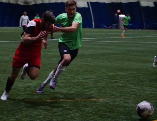 Image from a Dec 9 friendly, courtesy of  Michigan Stars FC .
