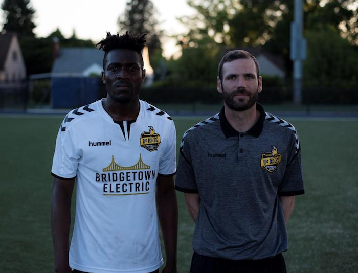 New Assistant Coach Sonimi Halliday and Head Coach Luke Babson of PDX FC. (Photo courtesy of Vox Populi / Michael Eastman)