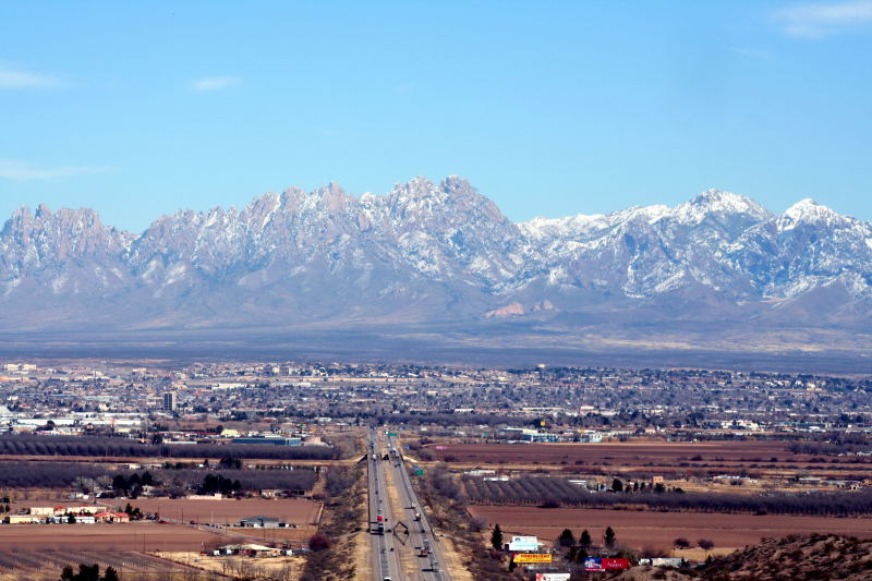The Organ Mountains above Las Cruces (Image from  Wikipedia )