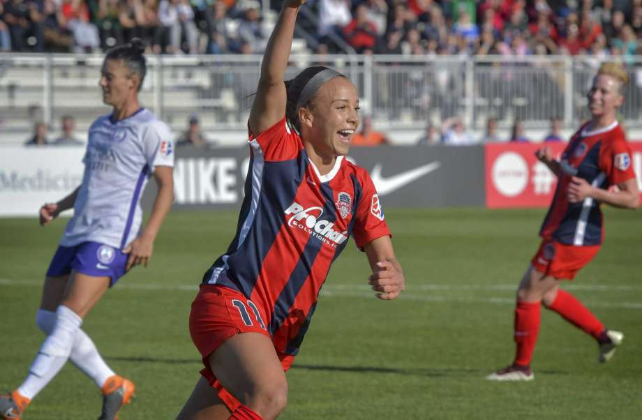 Imagine what Mallory Pugh could do against an amateur men's side. (Image courtesy of The Washington Post)