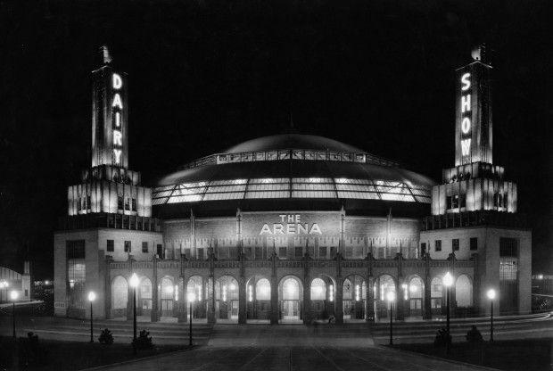 A photo of St. Louis Arena in 1929. (image courtesy of St Louis Post-Dispatch)