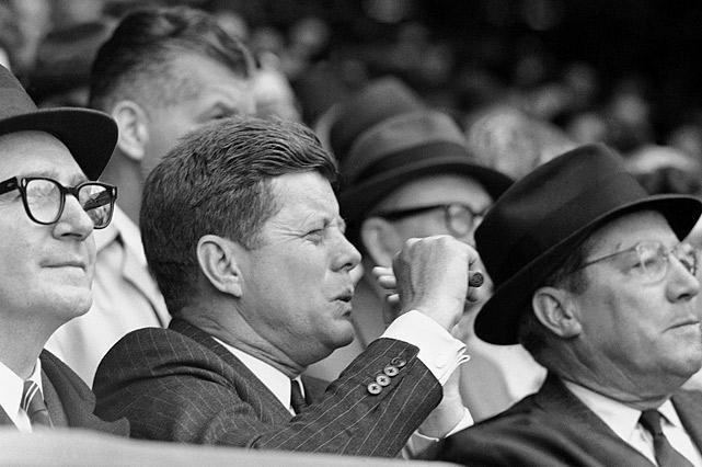 John F. Kennedy was a sports enthusiast and would regularly attend Baseball and American Football Games.