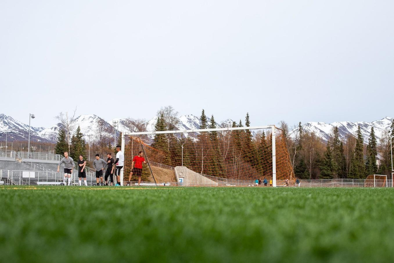 Surrounded by the Tordrillo Mountains to the West, Alaska Range to the North, and Chugach Mountains to the South, the setting to soccer in Anchorage is majestic.