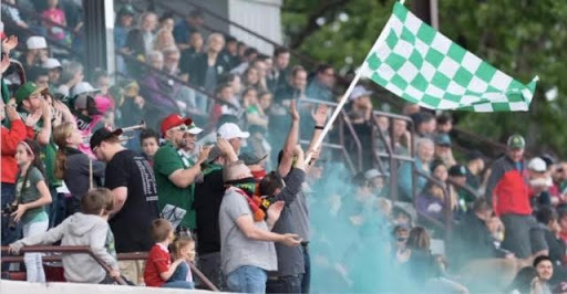 Capital City Company show up in big numbers to support their local USL-L2 club, Timbers U23s.