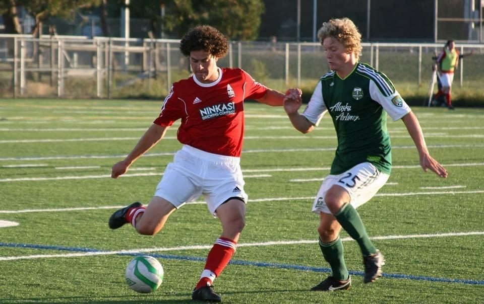 Friends and Rivals from the very first—Lane United hosted Timbers U23s in a friendly before they ever played a meaningful league match (Photo: Northwest Sports Pic, 2013).