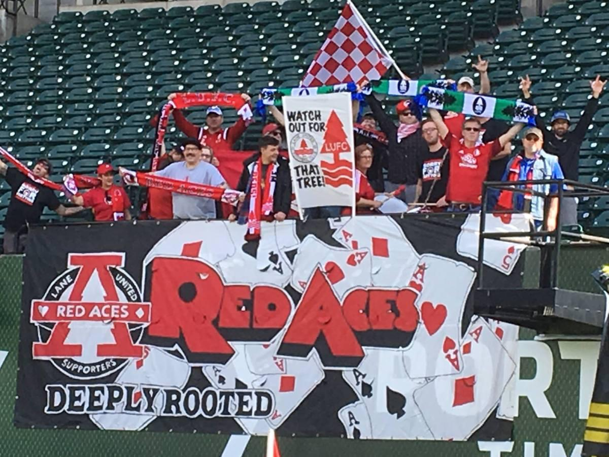 The everyday fans may be dwindling slightly, but the Red Aces have long-supported their Reds, and even drove to hang tifo in Providence Park prior to the U 23s move to Salem.