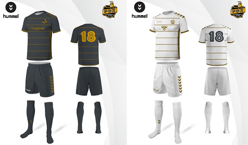 Hummel turned the original sketches into pre-production kit mock-ups. Only one each of either shirt was ever made.