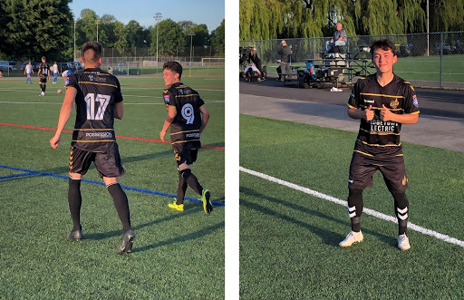 PDX FC, of the NPSL Northwest, look good and feel good in their black & gold Hummel kits.