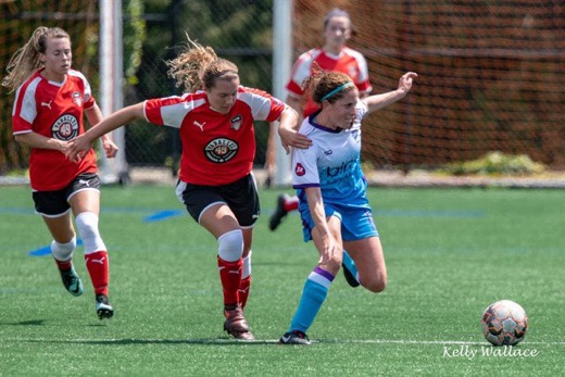 Canadian WPSL Rivals, TSS Rovers, can't stop Mariel Solsberg, they can only hope to contain her.