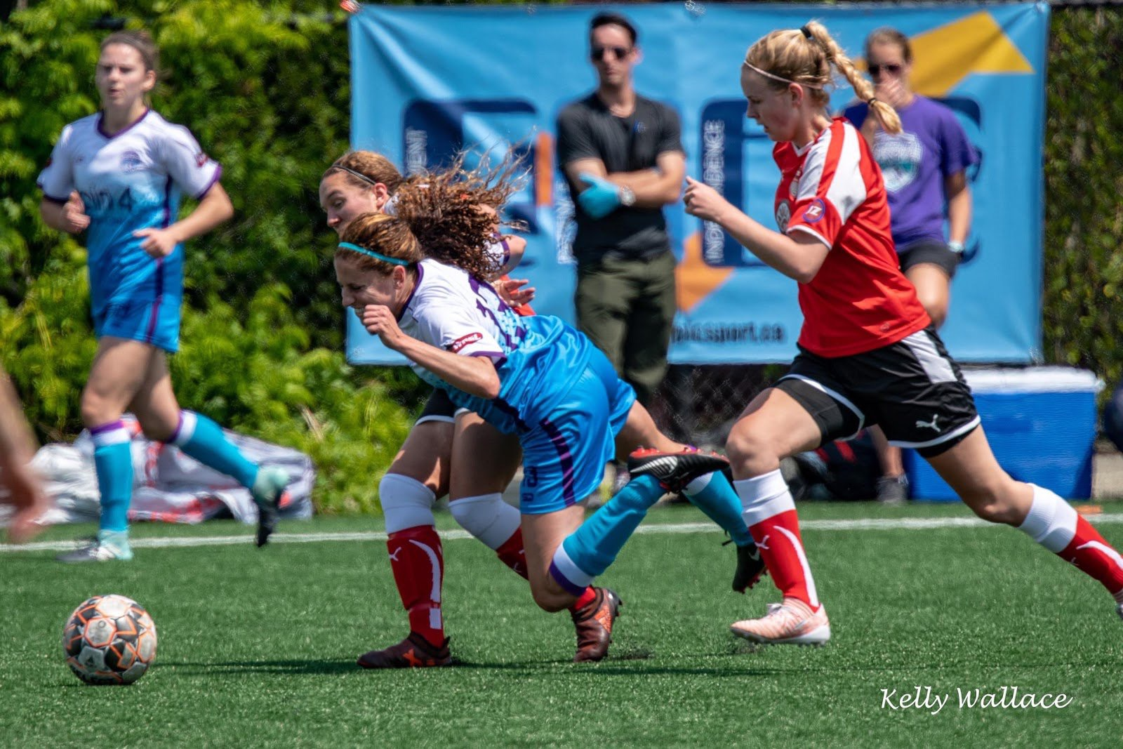 Mariel, and Vancouver Island FC, finished 2nd in their inaugural year as members of WPSL. (All Photos by Kelly Wallace, via Mariel Solsberg)