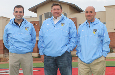Jones, center, is an owner in the league as well. (Image courtesy of the Journal Record)