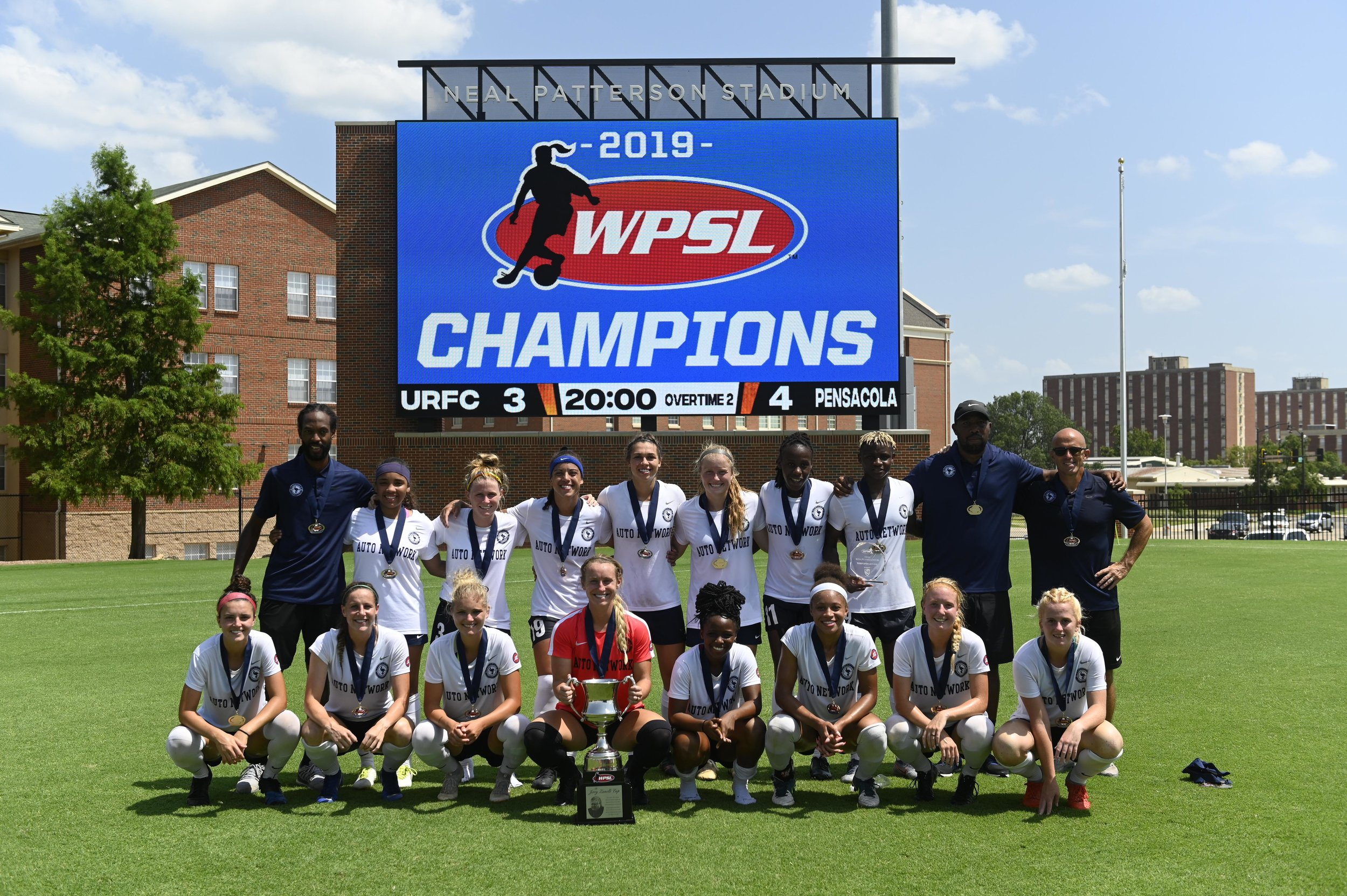 Pensecola won the 2019 WPSL Title in 2019. (Image courtesy of WPSL and KT King)