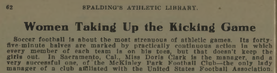 Excerpt from Spalding's Soccer Football Guide, 1919-1920.