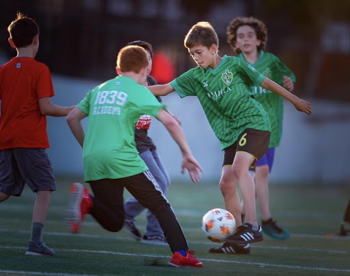 The kids of Napa United, their affiliated youth soccer organization, look great in green (Photo: Don Lex)