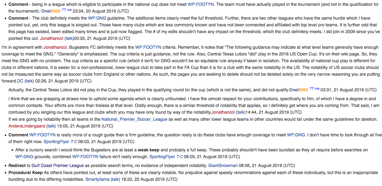 The debate has already begun on Wikipedia.