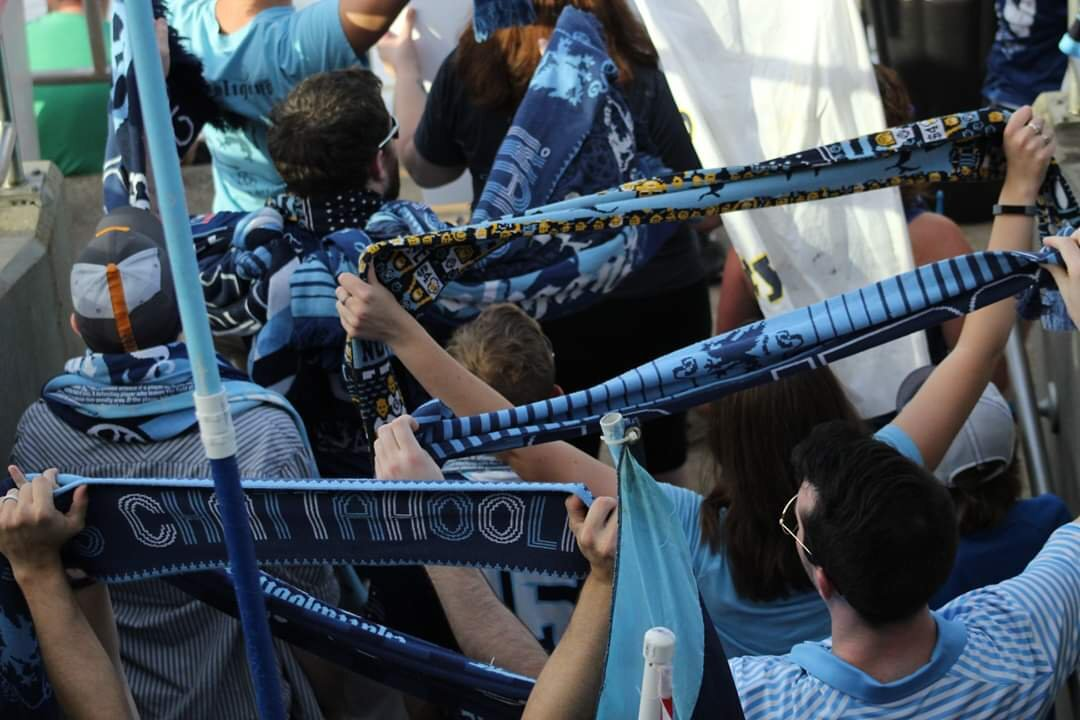 The Chattahooligans is one of the fierect SGs in grassroots soccer. Image courtesy of  Chattahooligans social media .