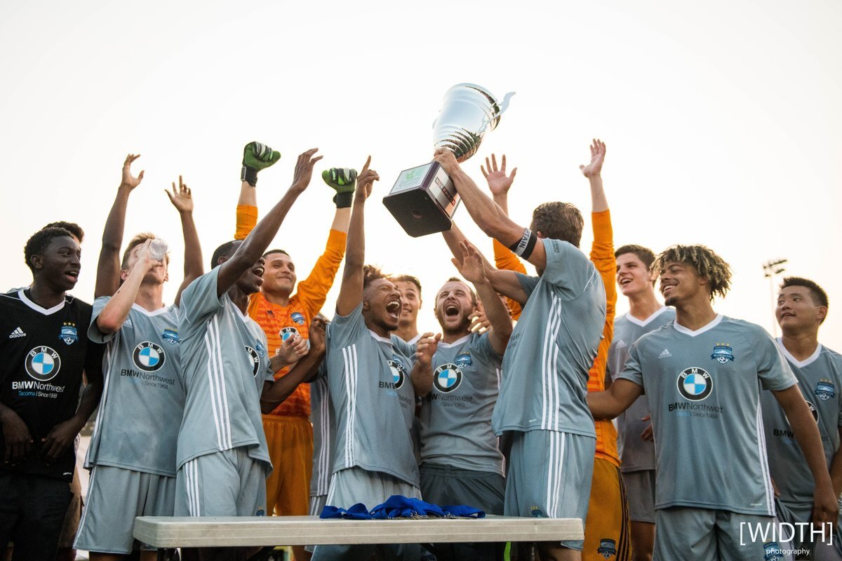 Washington Premier FC's men have three-peated as winners of the EPLWA title since 2017 (photo: Width Photography)