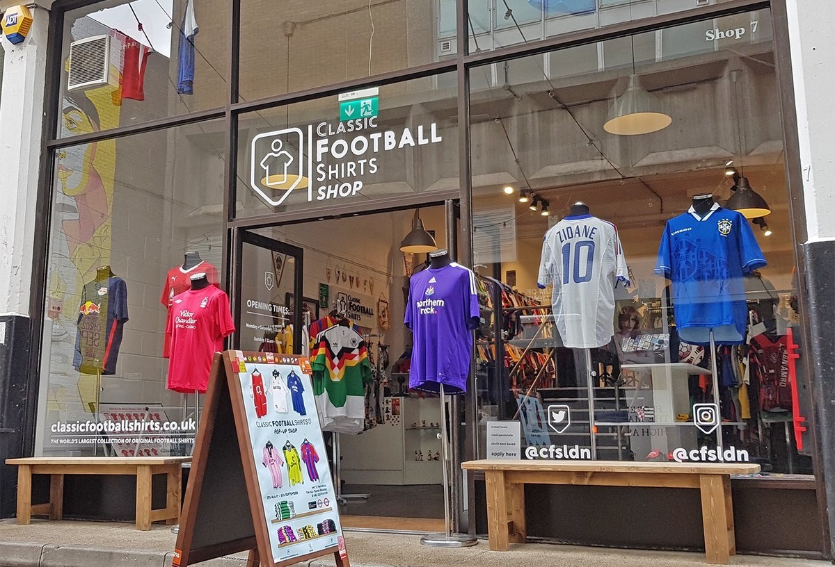 Now with two physical locations in the UK, Barton Arcade in Manchester and at Dray Walk in London, CFS has become a successful retailer and popular destination for football fans worldwide.