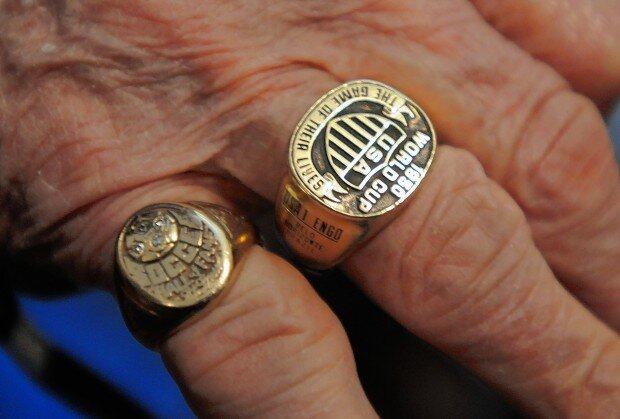 Frank Borghi's hand (image credit St. Louis Dispatch)
